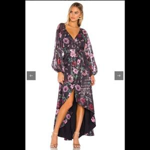Tularosa Cora Wrap Maxi Dress NWT